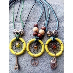 Necklace Colorful Metallic Small