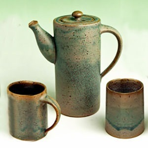 Cylinder Pitcher w/ Spout and Cover