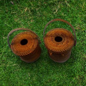 Wicker Tissue Holder Abaca