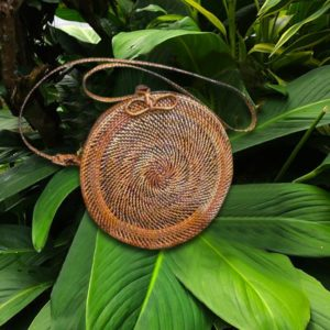 Round Wicker Bag