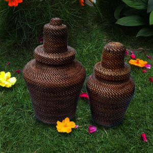 All-Purpose Wicker Jar Abaca
