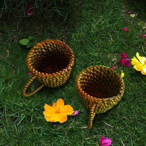 Wicker Cup-Style Coaster Abaca