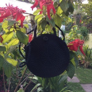 Lotus Black Abaca Bag
