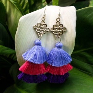 Handpainted Tassel Earrings