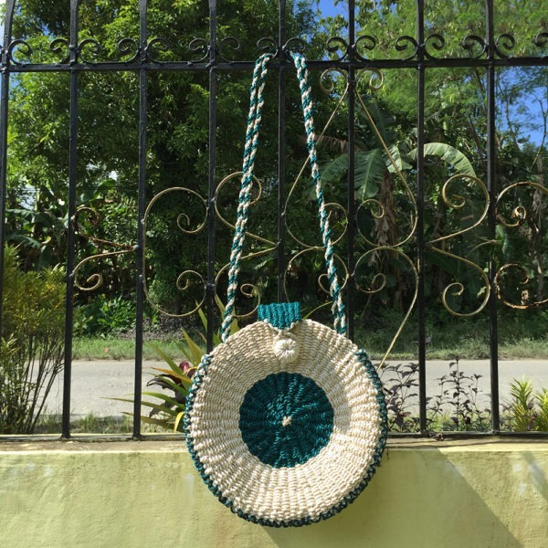 Malachite Abaca Bag